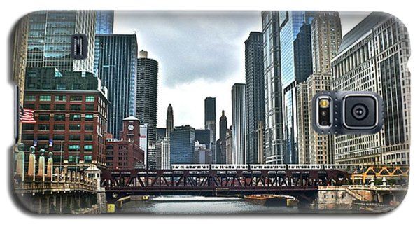 Chicago River And City Galaxy S5 Case