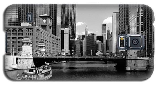 Chicago River Skyline Bridge Boat Galaxy S5 Case