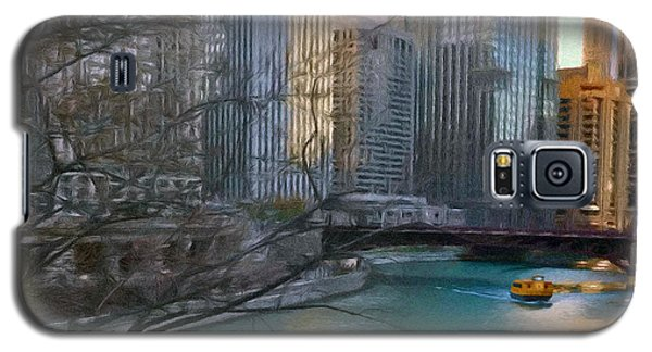 Chicago River Sunset Galaxy S5 Case by Jeff Kolker