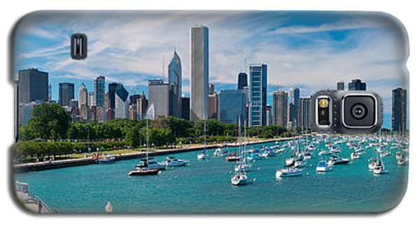 Chicago Skyline Daytime Panoramic Galaxy S5 Case by Adam Romanowicz