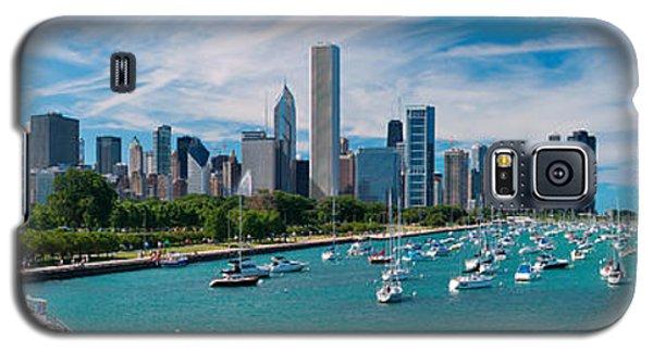 City Scenes Galaxy S5 Case - Chicago Skyline Daytime Panoramic by Adam Romanowicz