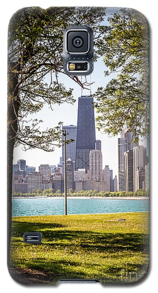 Chicago Skyline And Hancock Building Through Trees Galaxy S5 Case by Paul Velgos