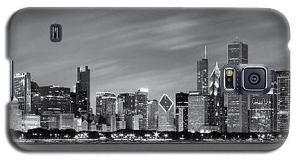 Chicago Skyline At Night Black And White Panoramic Galaxy S5 Case
