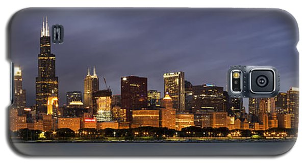 Chicago Skyline At Night Color Panoramic Galaxy S5 Case