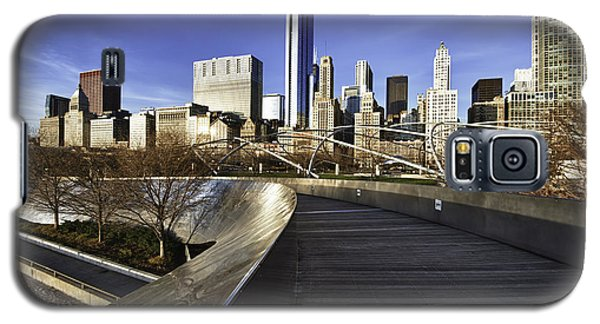 Chicago Skyline At Sunrise Galaxy S5 Case by Sebastian Musial