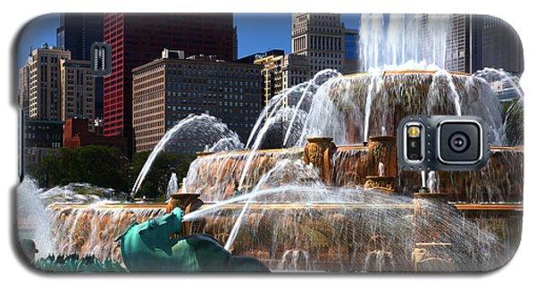 Chicago Skyline Grant Park Fountain Galaxy S5 Case