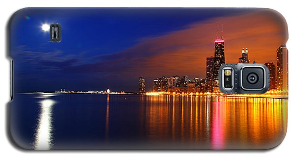 Chicago Skyline Moonlight Galaxy S5 Case