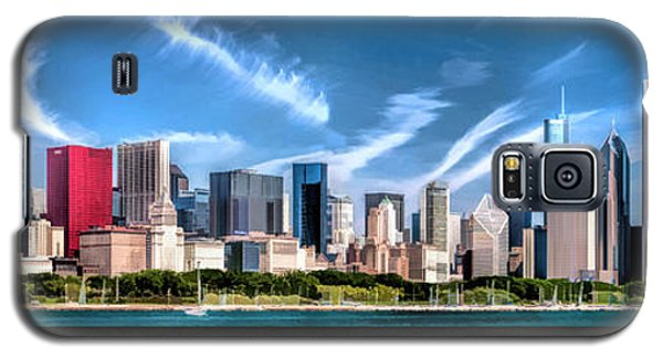 Chicago Skyline Panorama Poster Galaxy S5 Case