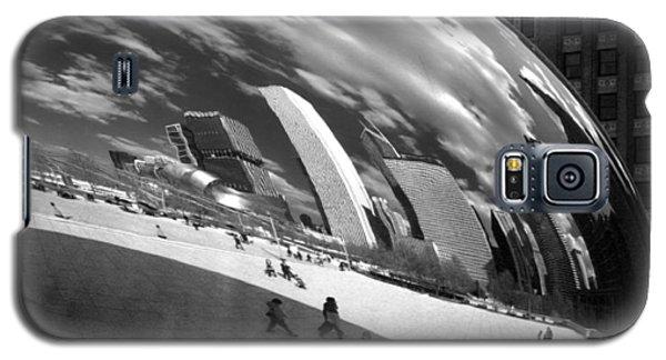 Chicago Skyline Reflected Bean Galaxy S5 Case