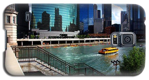Chicago Skyline River Boat Galaxy S5 Case