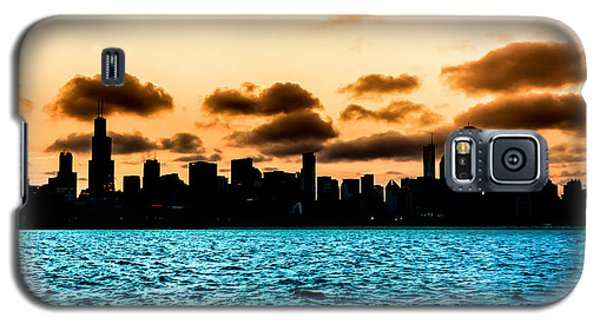 Chicago Skyline Silhouette Galaxy S5 Case by Semmick Photo