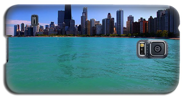 Chicago Skyline Teal Water Galaxy S5 Case