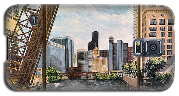 Chicago Skyline Triptych Galaxy S5 Case
