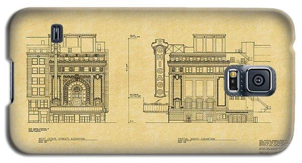 Chicago Theatre Blueprint 2 Galaxy S5 Case