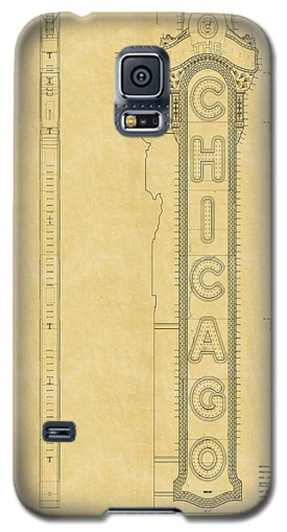 Chicago Theatre Blueprint Galaxy S5 Case