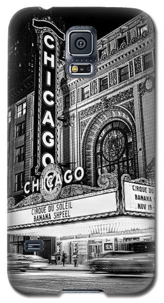 Chicago Theatre Marquee Sign At Night Black And White Galaxy S5 Case