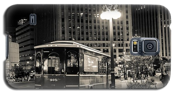 Chicago Trolly Stop Galaxy S5 Case by Melinda Ledsome