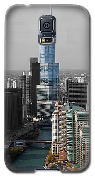 Chicago Trump Tower Blue Selective Coloring Galaxy S5 Case