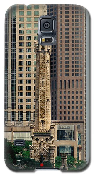 Galaxy S5 Case featuring the photograph Chicago Water Tower by Peg Urban