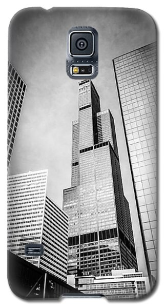 Chicago Willis-sears Tower In Black And White Galaxy S5 Case
