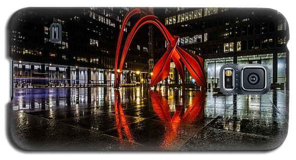 Chicago's Red Flamingo On A Rainy Night Galaxy S5 Case