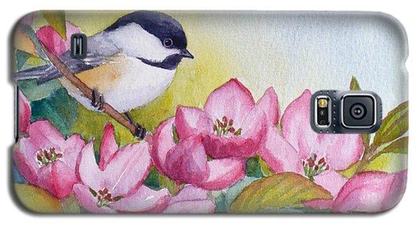 Chickadee And Crabapple Flowers Galaxy S5 Case