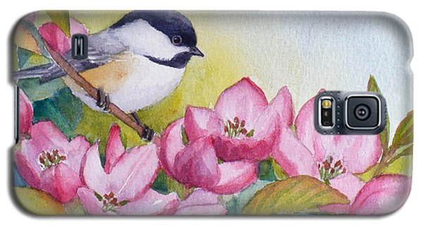 Chickadee And Crabapple Flowers Galaxy S5 Case