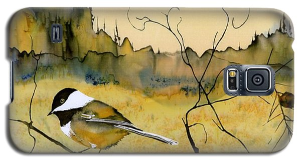 Chickadee In Dancing Pine Galaxy S5 Case by Carolyn Doe