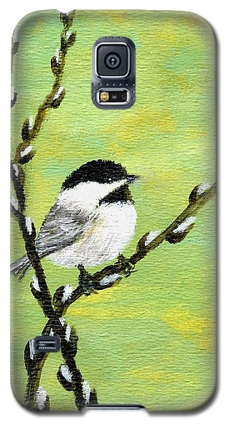 Chickadee On Pussy Willow - Bird 1 Galaxy S5 Case