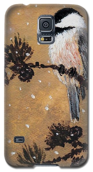 Chickadee Set 15 Bird 2 Detail Print Galaxy S5 Case