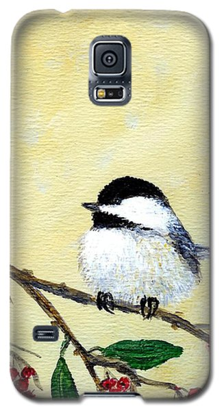 Chickadee Set 4 - Bird 2 - Red Berries Galaxy S5 Case