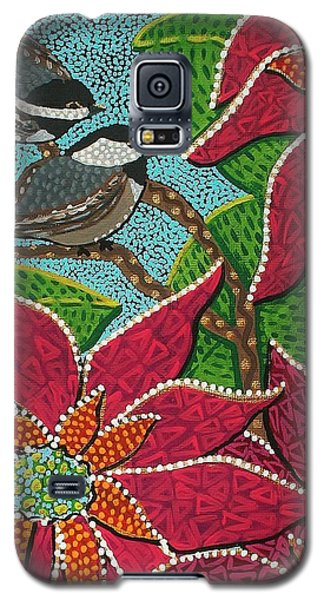 Chickadee's At Winter Time Galaxy S5 Case