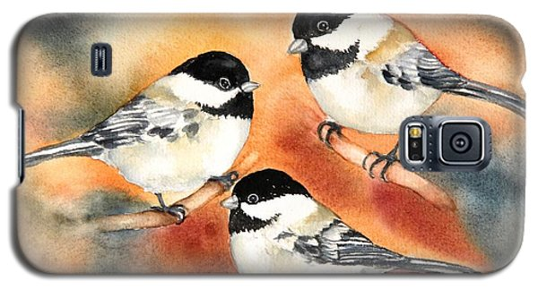 Chickadees Trio Galaxy S5 Case