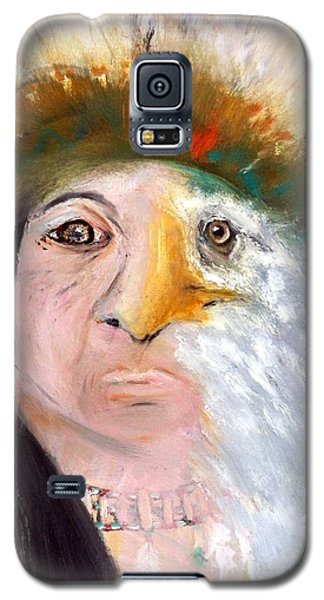 Galaxy S5 Case featuring the painting Chief Black Eagle by Ayasha Loya