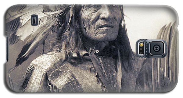 Chief He Dog Of The Sioux Nation  C. 1900 Galaxy S5 Case by Daniel Hagerman