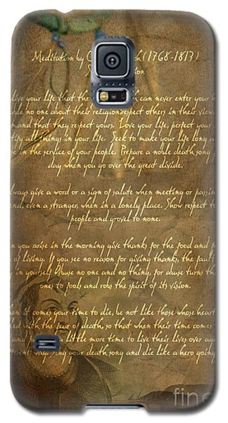 Chief Tecumseh Poem Galaxy S5 Case