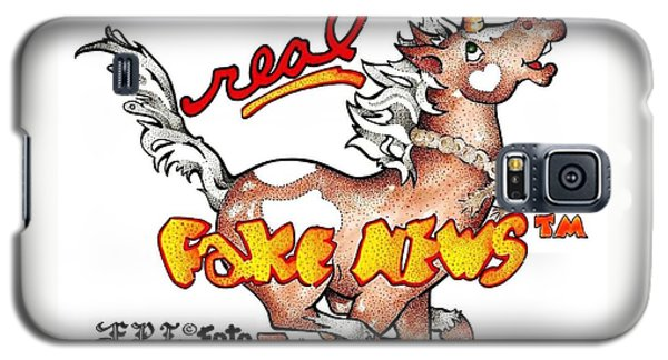Galaxy S5 Case featuring the drawing Real Fake News Fpi Foto by Dawn Sperry
