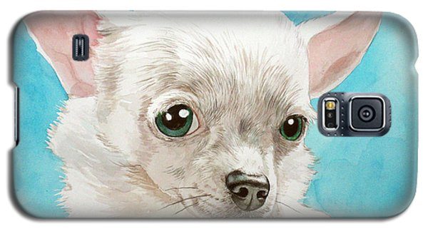 Chihuahua Dog White Galaxy S5 Case