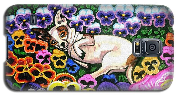 Chihuahua In Flowers Galaxy S5 Case