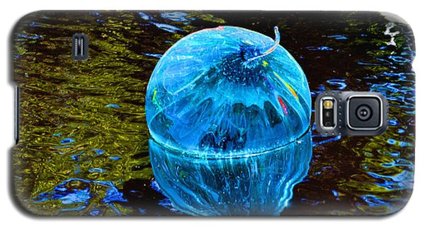Artsy Blue Glass Float Galaxy S5 Case by Luther Fine Art