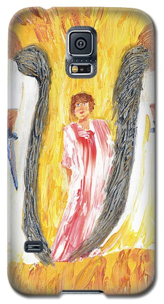 Galaxy S5 Case featuring the painting Child Being Escorted Into Heaven by Cassie Sears