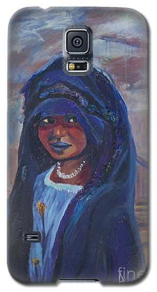 Galaxy S5 Case featuring the painting Child Bride Of The Sahara by Avonelle Kelsey