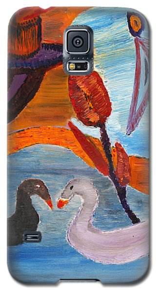 Galaxy S5 Case featuring the painting Childhood Memories by Vadim Levin
