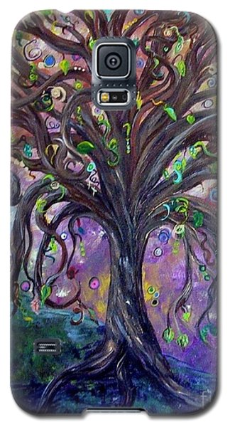 Galaxy S5 Case featuring the painting Children Under The Fantasy Tree With Jackie Joyner-kersee by Eloise Schneider