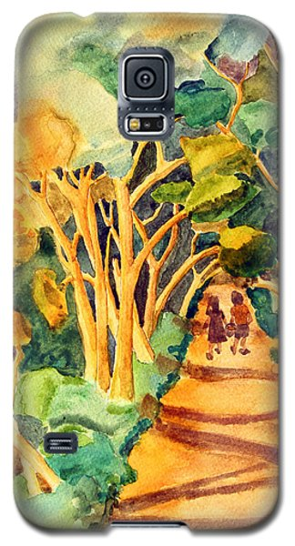 Children Walking On A Path In The Woods Galaxy S5 Case