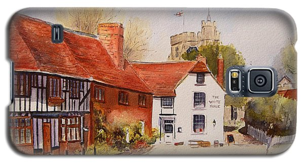 Galaxy S5 Case featuring the painting Chilham Kent by Beatrice Cloake