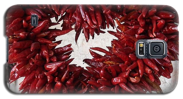 Galaxy S5 Case featuring the photograph Chili Pepper Heart by Kerri Mortenson