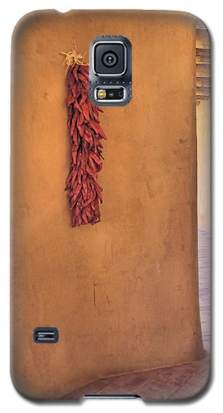 Chili Peppers On Adobe Wall Galaxy S5 Case by Ann Powell