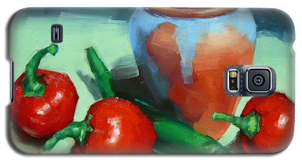 Chilli Peppers And Pot Galaxy S5 Case by Margaret Stockdale