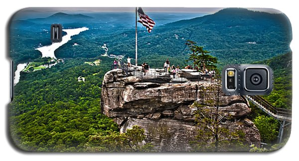 Galaxy S5 Case featuring the photograph Chimney Rock At Lake Lure by Alex Grichenko